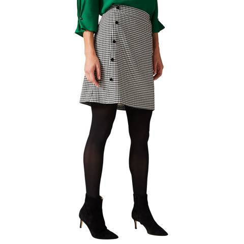 Phase Eight Black Dogtooth Ridley Skirt