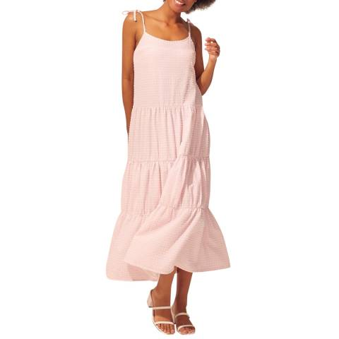 Solid & Striped Rose Gingham Tiered Dress With Tie Straps