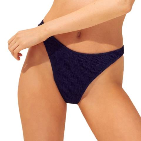Solid & Striped The Midnight Blue Ruched Annabelle Bottom