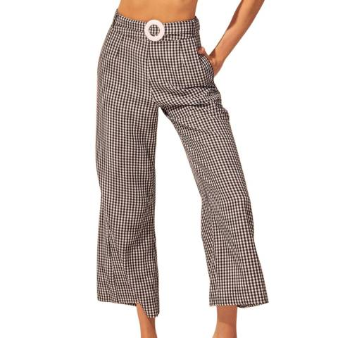 Solid & Striped Black/ White Gingham Palazzo Pant