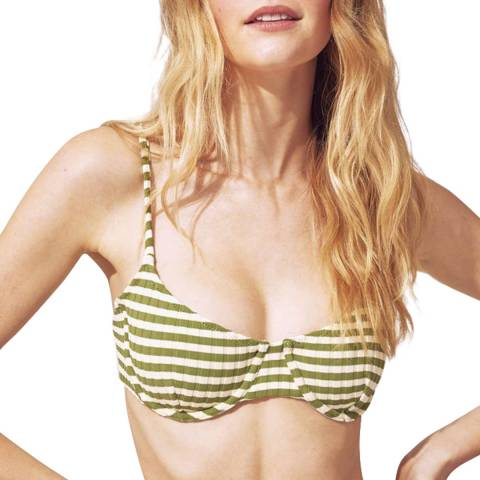 Solid & Striped The Olive Cream Grass Rib Ginger Top