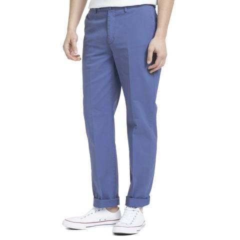 Hackett London Blue Garment Dye Linen Blend Chinos