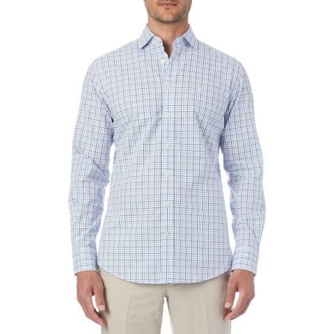 Hackett London Blue Check Shirt