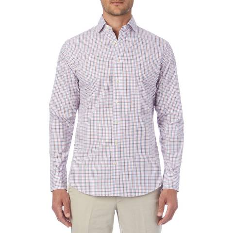 Hackett London Blue/Pink Check Shirt