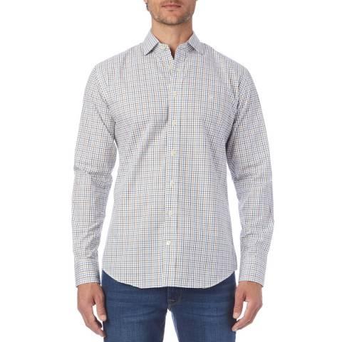 Hackett London Blue Multi Check Shirt