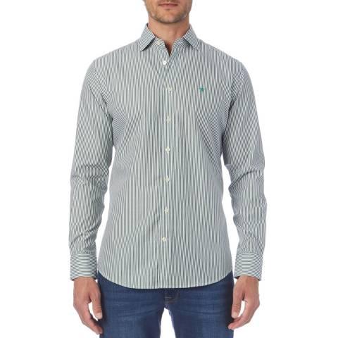 Hackett London Green Poplin Stripe Shirt