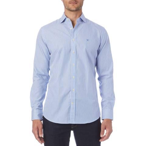 Hackett London Blue Poplin Stripe Shirt