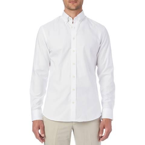 Hackett London White Button Down Oxford Shirt
