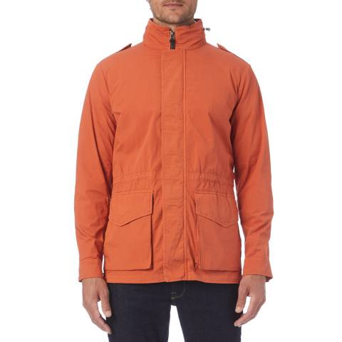 Hackett London Orange Lightweight Cotton Stretch Field Jacket
