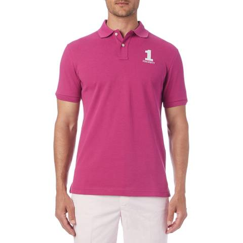 Hackett London Dark Pink New Classic Polo Shirt