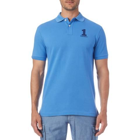 Hackett London Blue Logo Classic Polo Shirt