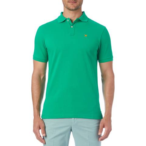 Hackett London Green Logo Classic Polo Shirt