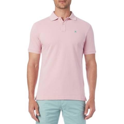 Hackett London Pink Logo Classic Polo Shirt