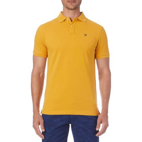 Hackett London Yellow Logo Classic Polo Shirt