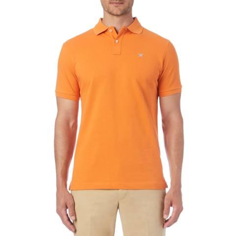 Hackett London Orange Logo Classic Polo Shirt