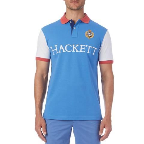 Hackett London Blue Great Britain Polo Shirt