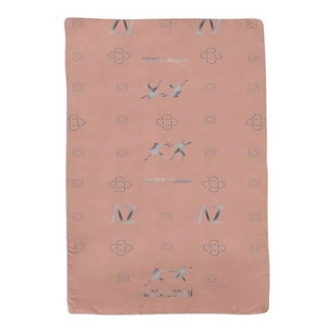 Alber Zoran Pink Aster Print Scarf