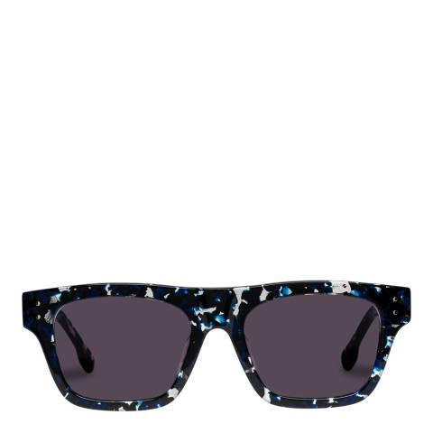 LeSpecs Luxe Navy Agate Motif Sunglasses