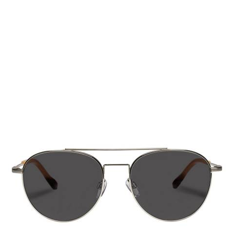 LeSpecs Brushed Silver Savage Sunglasses