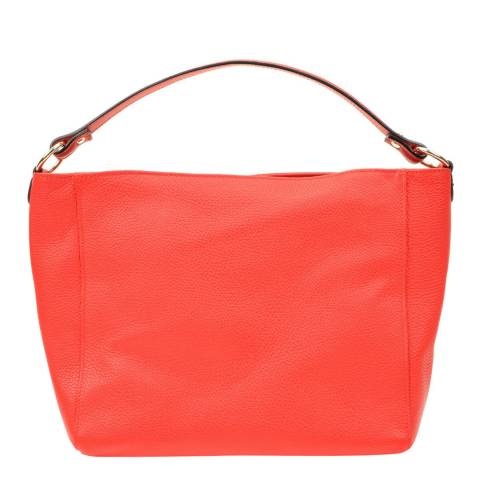 Anna Luchini Red Leather Shoulder Bag