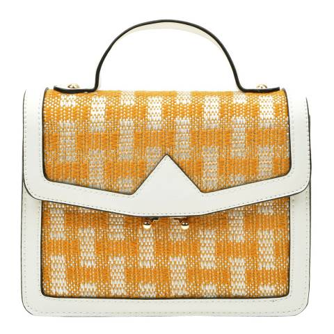Anna Luchini Yellow Top Handle Bag