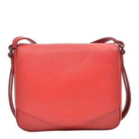 Carla Ferreri Red Leather Crossbody Bag