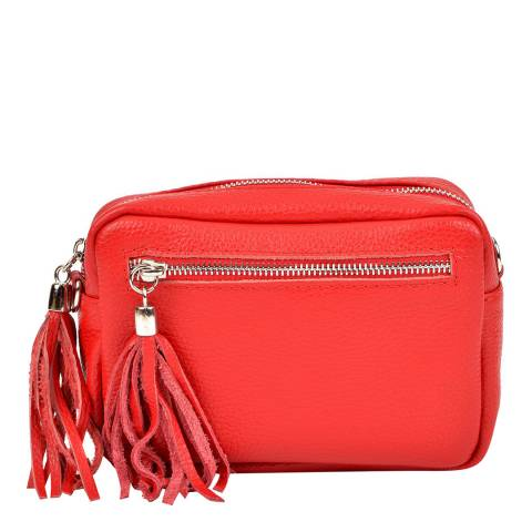 Isabella Rhea Red Leather Crossbody Bag