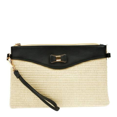 Anna Luchini Black/Beige Crossbody Bag