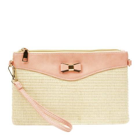 Anna Luchini Pink/Beige Crossbody Bag