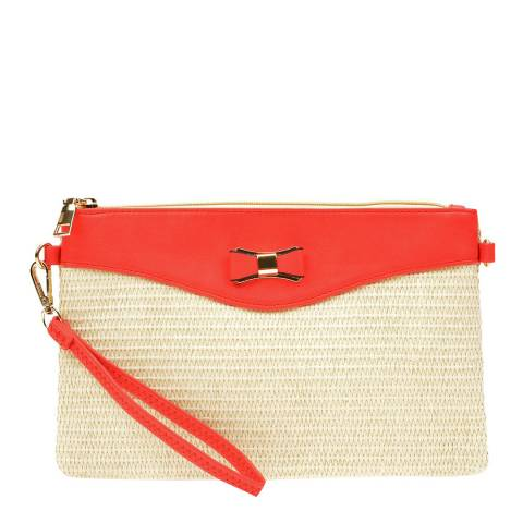 Anna Luchini Red/Beige Crossbody Bag