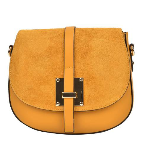 Sofia Cardoni Yellow Leather Crossbody Bag