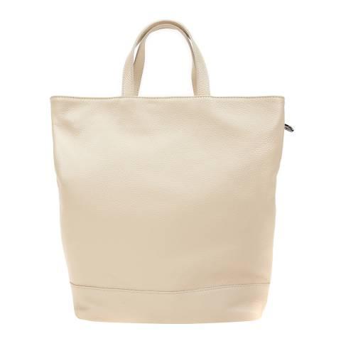 Isabella Rhea Beige Leather Backpack/Shoulder Bag