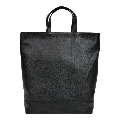 Isabella Rhea Black Leather Backpack/Shoulder Bag