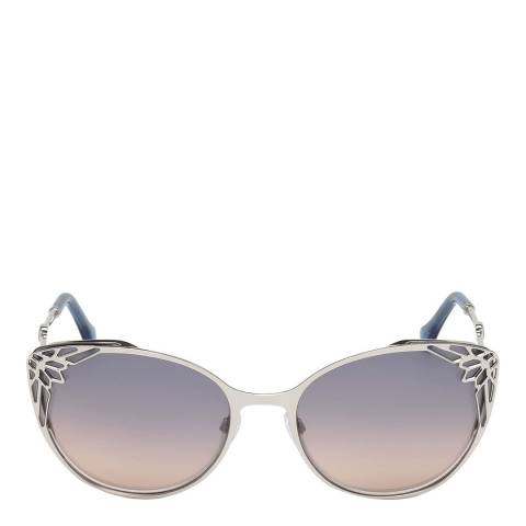 Roberto Cavalli Women's Blue Mirrored Roberto Cavalli Sunglasses 63mm
