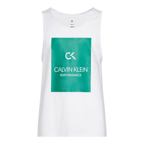 Calvin Klein White Billboard Graphic Tank