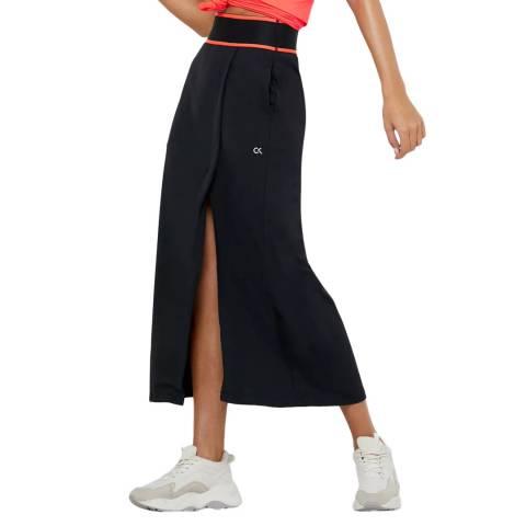 Calvin Klein Black/Coral Midi Skirt