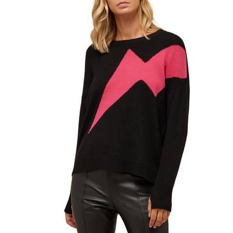 N°· Eleven Black/Pink Cashmere Lightning Bolt Jumper