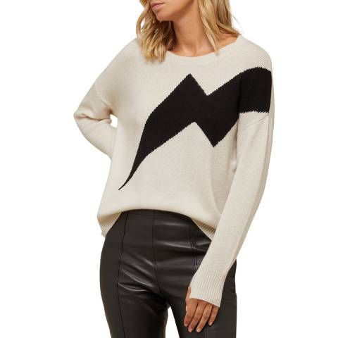 N°· Eleven Cream/Black Cashmere Lightning Bolt Jumper
