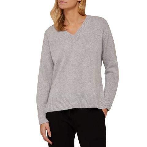 N°· Eleven Grey Cashmere Vee Neck Jumper
