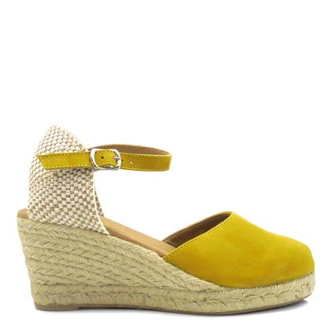Paseart Yellow Ante Wedge Heel Espadrilles