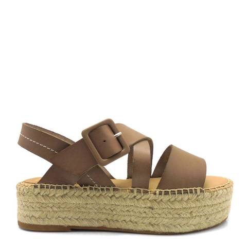 Paseart Brown Vaqueta Crossband Sandal