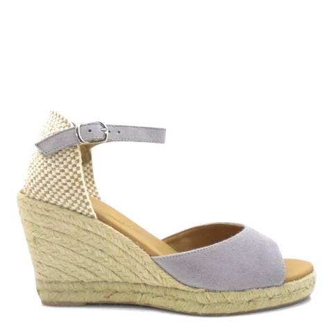 Paseart Grey Ante Wedge Espadrille Sandal