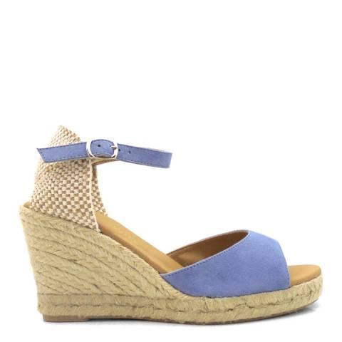 Paseart Blue Ante Wedge Espadrille Sandal