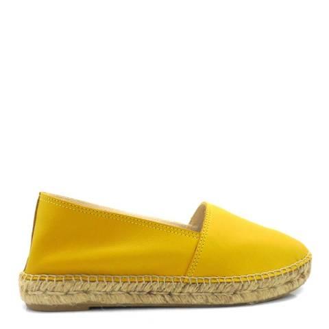 Paseart Yellow Leather Spanish Espadrilles