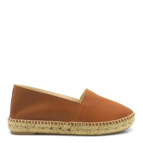 Paseart Tan Leather Espadrilles
