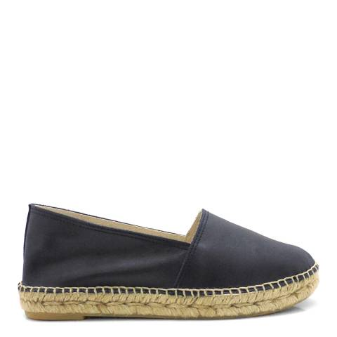 Paseart Navy Leather Espadrilles