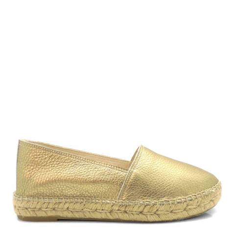 Paseart Gold Leather Espadrilles