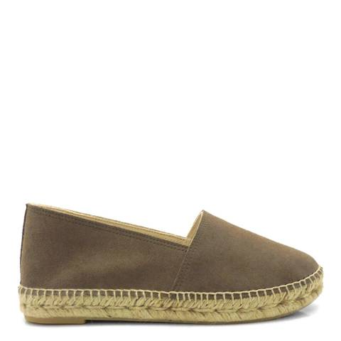 Paseart Brown Suede Espadrilles