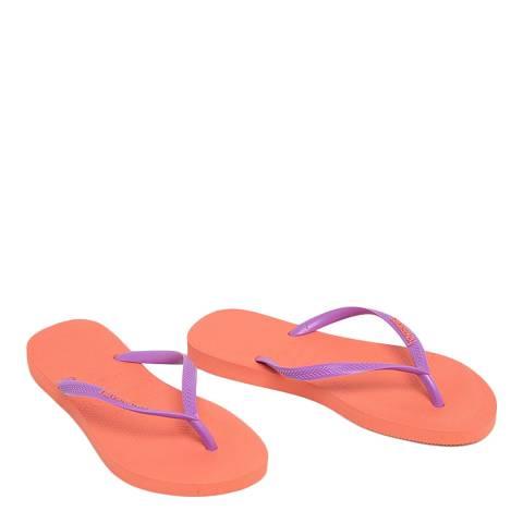 Havaianas Orange Cyber Slim Logo Flip Flops