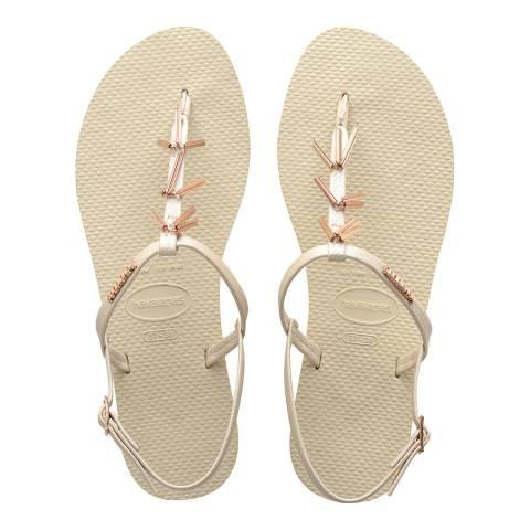 Havaianas Beige You Riviera Maxi Sandals